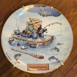 """""""Determination"""" fishing plate by Gary Patterson"""